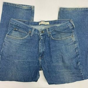 Lee Relaxed Fit Jeans Mens 36×30 Blue Denim